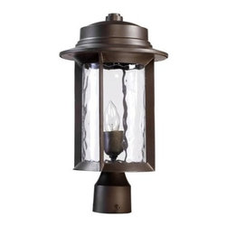 Quorum International - Quorum International 7248-9 1 Light Outdoor Post Light from the Charter Collecti - Transitional 1 Light Outdoor Post Light from the Charter CollectionAre your pathways dark and dangerous? Or maybe you're looking to accent your garden? This gorgeous and durable post light from the Charter collection is the answer to your problems. Designed to mount atop a standard sized post, this fixture will fill your areas with bright, ambient light, adding safety and style.  This fixture is tough too! It is UL listed for wet locations and will stand up to the roughest weather!Features: