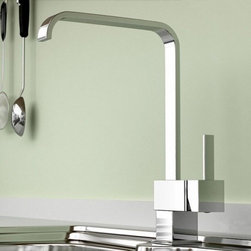 JollyHome - JollyHome Classic Style Single Handle Kitchen Faucet - Complete parts and all install fittings are included.Water pressure tested for industry standard.Easy to keep clean and maintain.Ceramic valve core