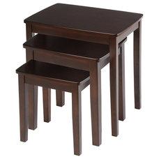 Bianco Collection 3-piece Espresso Nesting Table Set   Overstock.com