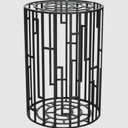 Kub Stool by Moroso - This stool/side table reminds me of a deconstructed tree trunk. Notice the rings at both ends and the bark-like pattern on the side? It makes for a fun twist.