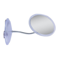 Zadro - Zadro 7X Gooseneck Round Vanity Mirror In Chrome/Acrylic-Fg27 - A make-up mirror is an absolute must have for any woman. Looking your best is easy when you have a magnified mirror at your side. It makes doing your hair and make-up easier than ever before. The 7X Gooseneck Vanity Mirror features a premium quality magnification mirror that allows you to see up-close and in detail, allowing for easy make-up application. The gooseneck allows the head to be adjusted to almost any angle.