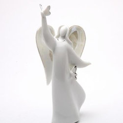 """ATD - 5.5 Inch White """"Lift Up Your New Day"""" Angel Holding Dove Figurine - This gorgeous 5.5 Inch White """"Lift Up Your New Day"""" Angel Holding Dove Figurine has the finest details and highest quality you will find anywhere! 5.5 Inch White """"Lift Up Your New Day"""" Angel Holding Dove Figurine is truly remarkable."""