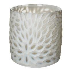 Lazy Susan - Milk Bouquet Cut Votive - -Use Votive Candle