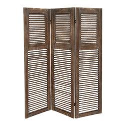 Classy Styled Wood 3 Panel Screen - Description: