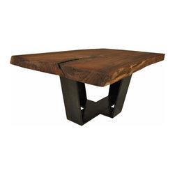 Custom coffee tables - Walnut Slab Coffee Table