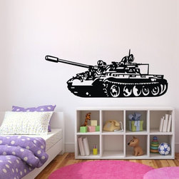 ColorfulHall Co., LTD - Wall Decals Of Tanks Army Soldier - Wall Decals of Tanks Army Soldier