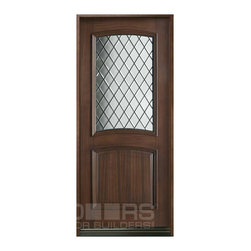 Diamond Collection (Custom Solid Wood Doors) - Custom Front Entry Door - Diamond Collection - Single - Doors For Builders Inc.