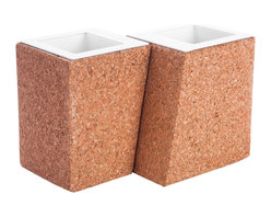 Working Class Studio - Nicole Planter, Set of 2 - These postmodern flower pots not only look cool, they're made of super-sustainable cork — good for the planet as well as your plants. Durable, watertight and mold- and mildew-resistant, they'll fit in anywhere, indoors or out — for succulents, cacti, herbs, you name it.