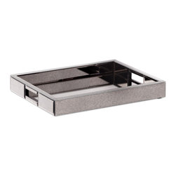 Zuo Modern Contemporary, Inc. - Grandmaster Tray Mirror - Handles help you keep a firm grip on the Grandmaster Tray. Its utilitarian silhouette is offset by the mirrored bottom and antique finish. Makes serving coffee to your guests exponentially more elegant.