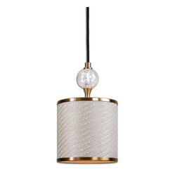 Uttermost - Dueville Mini Pendant - Think of this glamorous pendant as jewelry for your ceiling. The coffee bronze color and spiral fluted glass sphere detail add just the right dose of drama overhead.