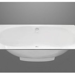 """Aquatica - Aquatica Gemina Freestanding EcoMarmor Stone Bathtub - White - Gemina by name, gem by nature! One look at this tub will have you dreaming about soaking in it. Made of stone and with all the elegance of a freestanding tub, the Gemina features a deep oval basin with a several ledge options. One unique thing we know you'll just love about the Gemina is the handy drawer located underneath the bath. Highly customisable, you can have your Gemina just the way you want it. Whatever combination you decide on, the Gemina by Aquatica will make a stylish focal point to your bathroom.Aquatica's bathtubs offer modern glamour at affordable prices. The Aquatica line is diverse enough to encompass both bathtubs with classical elegance that match the style of your bath and bathtub models that are distinctive and unique as the centerpiece of your remodel.FeaturesStriking upscale modern designFreestanding constructionSolid, one-piece construction for safety and durabilityExtra deep, full-body soakErgonomic design forms to the body's shape for ultimate comfortQuick and easy installationEcoMarmor material provides for unparalleled heat retention and durabilityHypoallergenic surfaceColor will not fade or lose its brilliance overtimePreinstalled cable drive pop up and waste-overflow fitting includedDesigned for one or two person bathingNon-porous semi-glossy surface for easy cleaning and sanitizingAdjustable height legs100% recyclable and fire-resistantChrome plated drainAvailable in four ledge configurations: rectangular ledge, rounded left corner, rounded right corner, or wall ledge25 Year Limited WarrantyCode compliant with American standard 1.5"""" waste outletsSpecifications:Overall Dimensions: 67 in. L X 29.5 in. W X 24.67 in. HDepth to Overflow Drain: 16.5 in.Interior Depth: 19 in.Interior Length (Top): 61.5 in.Interior Width (Top): 26.25 in.Interior Length (Bottom): 39.33 in.Interior Width (Bottom): 15.75 in.Weight: 159 lbsCapacity: 60 GallonsShape: OvalDrain Placement: Cen"""
