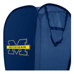 The Northwest Company - NCAA Michigan Wolverines Hamper College Storage Basket - Features: