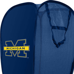 The Northwest Company - NCAA Michigan Wolverines Hamper College Storage Basket - FEATURES: