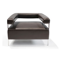 Lounge22 - Bali Lounge Chair in Lexi Earth - Wide and comfortable, this timeless Bali Lounge Chair fits perfectly in any living room or office. The blend of hard metal tubing with plush cushioning creates an architectural piece, where form clearly follows function.