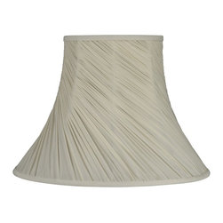 Laura Ashley - Laura Ashley Chelsea Cream Swirled Pleat Bell Lamp Shade Multicolor - SFW613 - Shop for Shades from Hayneedle.com! About Laura Ashley Home Lighting You know the name Laura Ashley ... it stands for classic beautiful design and quality. Now Laura Ashley Home Lighting brings that classic style to your home with an impressive selection of residential lighting including a broad range of lamps and lamp shades a lively assortment of unique mini-chandeliers and distinctive home lighting collections. Each piece embodies the English influence of Laura Ashley while bringing classical elegance to modern design.