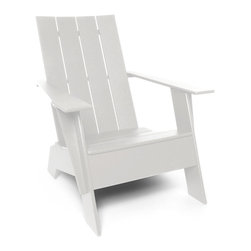 Loll Designs - 4 Slat Flat Standard Adirondack, Cloud White - The epitome of coastal relaxation, this lounge chair is so stylish is works on just about any porch, even if you're inland. Slide back, close your eyes and you can almost hear the gulls.