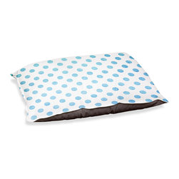 "DiaNoche Designs - Dog Pet Bed Fleece - Colored Dots Blue - DiaNoche Designs works with artists from around the world to bring unique, designer products to decorate all aspects of your home.  Our artistic Pet Beds will be the talk of every guest to visit your home!  BARK! BARK! BARK!  MEOW...  Meow...  Reallly means, ""Hey everybody!  Look at my cool bed!""  Our Pet Beds are topped with a snuggly fuzzy coral fleece and a durable underside material.  Machine Wash upon arrival for maximum softness.  MADE IN THE USA."