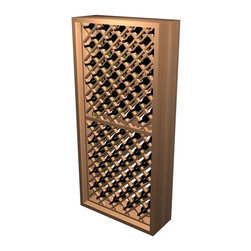 Wine Cellar Innovations - Diamond Bin Wooden Wine Rack (Prime Mahogany - Midnight Black Stain) - Choose Wood Type and Stain: Prime Mahogany - Midnight Black Stain. Bottle capacity: 90. Beveled ends and rounded edges. Labels are safe from tearing. Fillers are intended to cover the space between the outside edge of the unit and where the surrounding wall meets (when the unit is not wide enough to fit within a given space).. 34 in. W x 12.69 in. D x 72 in. H (86 lbs.). Designer collection. Made in USA. Warranty. Assembly Instructions. Rack should be attached to a wall to prevent wobbleIndividual bottle wine storage is our most popular style of wine rack. Now with this enhanced design, each wine bottle is stored in an individual cradle, yet at a diagonal pattern, creating a very dramatic storage display for your prized possessions.