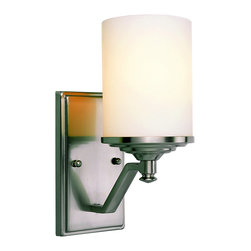 Trans Globe 7921 BN Brushed Nickel Knob Wall Sconce - Trans Globe 7921 BN Brushed Nickel Knob Wall Sconce-Collection: Nickel Knob-Number of Bulbs: 1-Bulb Type: 60 Watt Medium-Bulbs Not Included-Glass/Shade: Frosted-Weight: 6-1 Year Limited Warranty