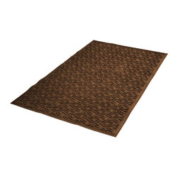 Bungalow Flooring - 36 in. L x 60 in. W Dark Brown Waterguard Dogwood Leaf Mat - Made to order. Leaf design traps dirt, resists fading, rot and mildew. Indoor and outdoor use. 36 in. L x 60 in. W x 0.5 in. H