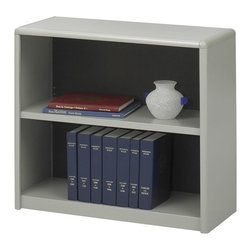 Safco - Value Mate Steel Bookcase w 2 Shelves in Gray - Store research materials, records, books, decorative items and more with this two-shelf bookcase as part of your office or cubicle decor. The personal sized bookcase is made of steel in gray powder coat finish and features one adjustable shelf for added versatility. Accommodate 3-ring binders and large publications. Generous 12 in. deep shelves. 24 ga. material thickness. Adjustable shelf with 1 in. increment. Shelf capacity 70 lbs.. Back is made of solid fiberboard. Made from steel. Powder coat finish. 31.75 in. W x 13.5 in. D x 28 in. H (22 lbs.). Assembly InstructionEconomical, sturdy and strong with the ValueMate Bookcases you can't go wrong! Exquisitely showcase photographs, keepsakes, literature and resources - and these shelves are perfect for larger publications and 3-ring binders! Make it functional or fun for your executive office, conference room, meeting areas, reception areas, waiting room, library, media center, sales offices and even your home office. These beautifully designed bookcases add the little extra that your workspace needs.