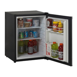 Frontgate - SuperConductor Refrigerator - Standard - Choose from the energy-efficient Energy Star model or standard version. 2.3 CF capacity. Highly energy efficient and green product. Green product uses completely CFA-free R600A refrigerant. Auto defrost. Our eco-friendly SuperConductor Refrigerator keeps drinks and other necessities close at hand. The state-of-the-art superconductor heat pipe technology ensures your libations are always chilled to the perfect temperature.   .  .  .  . Heavy duty compressor . Super quiet operation . Rear mounted full range temperature control . Adjustable/removable shelving . Door bins for additional storage . 10 ft. wall-hugger cord . Recessed door handle . Reversible door – left or right swing .