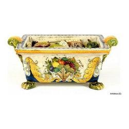 Artistica - Hand Made in Italy - Florentine: Rectangular Cachepot - Florentine Collection: