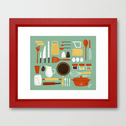 Kitchen Jamboree - Bring this colorful ode to the cook home to your kitchen corner by Lili Ribs.