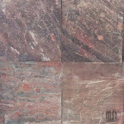 "Copper Honed Finish Quartzite Floor & Wall Tiles 12"" x 12"" - 12"" x 12"" Copper Honed Finish Quartzite Floor and Wall Tile is a beautiful tile to install on a wall, floor or kitchen countertop in your home. The tile is frost resistant, so it ft.s a great option for outdoor installations. It is marginally skid resistant and recommended for standard residential applications. The rustic-style tile is made of natural Quartzite stone, and it features a textured, low-sheen surface."