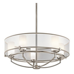Kichler Lighting - Kichler Lighting KCH-42921CLP Saldana Modern / Contemporary Chandelier - Kichler Lighting KCH-42921CLP Saldana Modern / Contemporary Chandelier