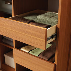 Pull-out drawer - Pull-out drawers keep linens clean and organized.