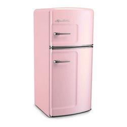 Big Chill - Big Chill Studio 14.4 cu. ft. Top-Freezer Fridge - Pink Lemonade - STUDIO SIZE BIG CHILL FEATURES (14.4 CU. FT.)
