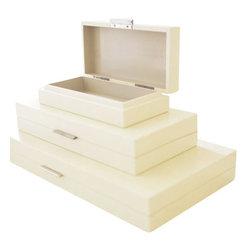 Barbara Barry Luxe Transitional Organizer Box -