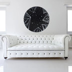My Wonderful Walls - The Direction of the Stars Wall Sticker - Astronomy Art by Elise Mahan, Small - - Product:   black and white circle astronomy wall sticker