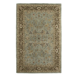 Amer - Traditional Ghazni 2'x3' Rectangle Light Blue-Brown Area Rug - The Ghazni area rug Collection offers an affordable assortment of Traditional stylings. Ghazni features a blend of natural Light Blue-Brown color. Hand Tufted of Ghazni Wool the Ghazni Collection is an intriguing compliment to any decor.