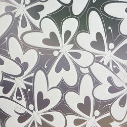 Odhams Press - Flock Of Butterflies  Privacy Window Film, Standard 36 in. x 48 in. - The perfect way to add a little privacy to any space without giving up the beauty and warmth that natural lighting brings.