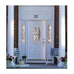 Smooth Skin Fiberglass Door Series - 3/0 x 6/8 Smooth Skin Series: 3/4 Oval Premium w/ Castile Doorlites ---