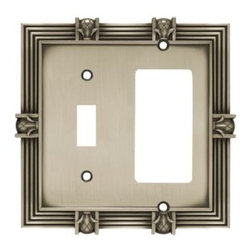 Liberty Hardware - Liberty Hardware 64466 Pineapple WP Collection 4.96 Inch Switch Plate - Brushed - A simple change can make a huge impact on the look and feel of any room. Change out your old wall plates and give any room a brand new feel. Experience the look of a quality Liberty Hardware wall plate.. Width - 4.96 Inch,Height - 4.9 Inch,Projection - 0.3 Inch,Finish - Brushed Satin Pewter,Weight - 0.49 Lbs