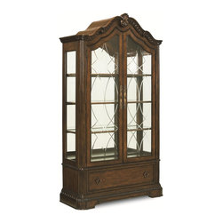Legacy Classic - Legacy Classic Pemberleigh Bunching Curio in Brandy Finish - Legacy Classic Pemberleigh Bunching Curio in Brandy Finish 3100-570K