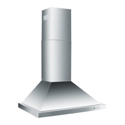 "Z Line Kitchen and Bath - ZLKB-Wall Mount Range Hood, 42"", Standard Chimney for 9-9.5 Ceilings (Included) - The ZLKB Wall Mount Range Hood combines simplicity with modern design.  This range hood comes complete with hood, standard chimney, mounting bracket, 6"" outlet with back draft damper, vent kit and hardware."