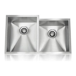 Lenova - Lenova Ss-Ori D2 Unequal Undermount Double Bowl Kitchen Sink Stainless Steel - The Lenova SS-0Ri-D2 Zero Radius Unequal Double-Bowl Undermount Kitchen Sink has overall sink dimensions of 32-7/8-Inch by 19-7/8-Inch and bowl dimensions of Left: 14-7/8-Inch by 18-Inch by 10-Inch R of 14-7/8-Inch by 16-Inch by 10-Inch. The name Lenova is born from a love of space and stars where the universe is truly unlimited. In this boundless spirit we present a line of new and timeless designs for kitchen and bath sinks. The Zero Radius collection offers a performance sink for the serious cook. Hand made to our specifications in 16-Gauge premium stainless steel with scratch-resistant satin finish and 5 - Side sound baffling, plus our superior X Channel drainage technology. Zero radius undermount sinks will handle any situation and look great doing it. Covered by Lenova's Limited Lifetime Warranty: Lenova Sinkware warrants all of its stainless steel sinks to be free of all manufacturing and material defects under normal use by the original owner.