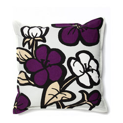 Working Class Studio - Cassie Outdoor Pillow - Bloom - Night - For outdoor decor as statement-making as your inside style, toss this bold floral pillow into the mix. It's got just enough color for impact without overwhelming your patio or deck, and you can rely on its rugged fabric, whatever the weather.