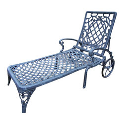 Oakland Living - Oakland Living Mississippi Cast Aluminum Chaise Lounge in Verdi Gray - Oakland Living - Patio Lounges - 2108VGY - About This Product: