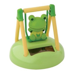 Kito - Solar Powered Green Smiling Swinging Frog Desktop Display - This gorgeous Solar Powered Green Smiling Swinging Frog Desktop Display has the finest details and highest quality you will find anywhere! Solar Powered Green Smiling Swinging Frog Desktop Display is truly remarkable.