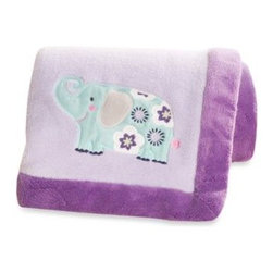 Carter's - Carter's Zoo Garden Blanket - Keep your little one warm and comfortable with this adorable blanket that coordinates perfectly with the Carter's Garden Zoo Crib Bedding Collection.