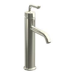 KOHLER - KOHLER K-14404-4-SN Purist Tall Single-Control Lavatory Faucet with Smile Design - KOHLER K-14404-4-SN Purist Tall Single-Control Lavatory Faucet with Smile Design Handle in Polished NickelCapturing the inherent style of minimalist design elements, the Purist(R) faucet delivers streamlined water control. The signature dimple at the end of the upward-curving handle provides an interesting balance with the spout.KOHLER K-14404-4-SN Purist Tall Single-Control Lavatory Faucet with Smile Design Handle in Polished Nickel, Features:• Complements the Purist Suite