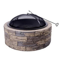 Shinerich SRFP97C FS 35-inch Stone Fire Pit - Fire pits are perfect for when there is a little chill in the air.