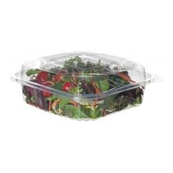 """Eco-products 8 Inch Clear Clamshell - Case Of 160 - 8"""" x 8"""" x 3"""" Clear Hinged Clamshell"""