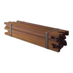Maciço Bench by Rotsen Furniture - This contemporary bench is made of reclaimed Peroba wood and details in copper.