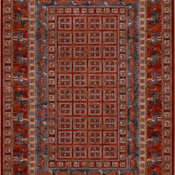 """Couristan - Couristan Old World Classics Pazyrk, Antique Red, 4'6""""x6'6"""" Rug - Captivating, authentic replicas of the world's earliest known area rugs, the Old World Classics Collection tells an enchanted story through its intricate patterns and rustic color palette. Inspired by nomadic motifs dating back to the 5th century B.C., the historical footprint of area rug design is brilliantly captured in these modern-day power-loomed masterpieces. Made with 100% semi-worsted New Zealand wool, Old World Classics features our exclusive locked-in-weave and crystal-point finish, giving each detail superior definition. Combining the distinct look of traditional handmade designs with today's most advanced power-loomed technologies; this collection truly blends the best of the past and present. Charming and unique, Old World Classics has an eclectic appeal and will be perfectly at home in both traditional and transitional interiors."""